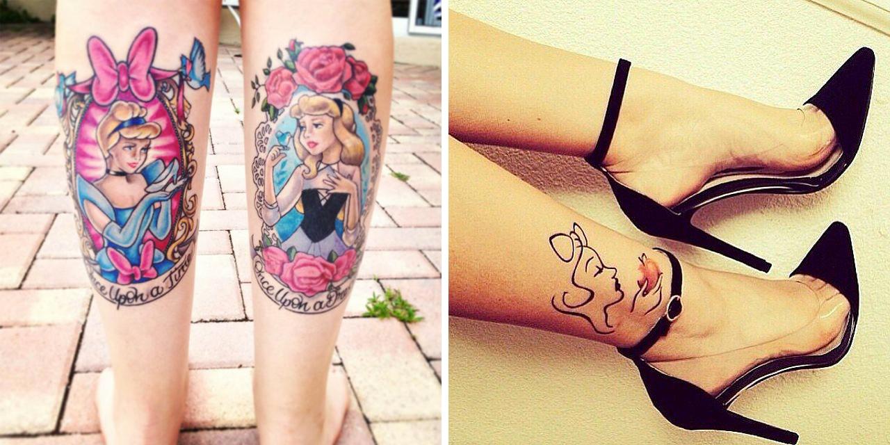 Tatuaggi con principesse disney 38 stupende idee roba for Disegni piccoli per tatuaggi