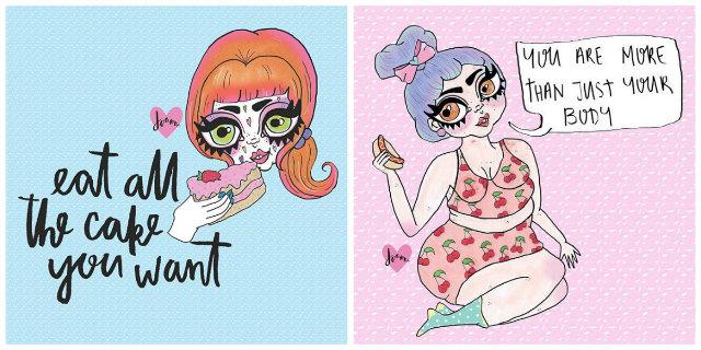 Queste 30 Illustrazioni Ti Faranno Tornare la Fiducia in Te Stessa e l'Amore per il Tuo Corpo
