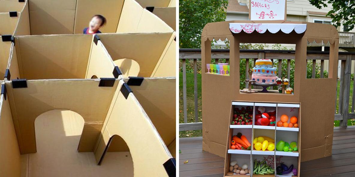 Giochi fai da te con il cartone roba da donne for Poco costoso per costruire piani di casa