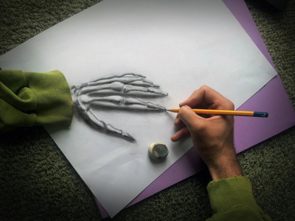 20 Incredibili Illusioni Ottiche 3D Realizzate Semplicemente con Carta e Matita