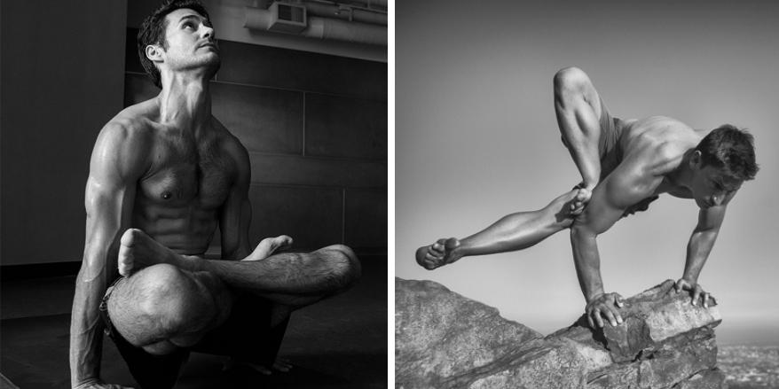 nudo modello di yoga