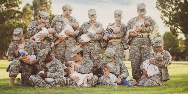 Mamme in Uniforme che Allattano: 10 Immagini che Colgono la Bellezza del Momento