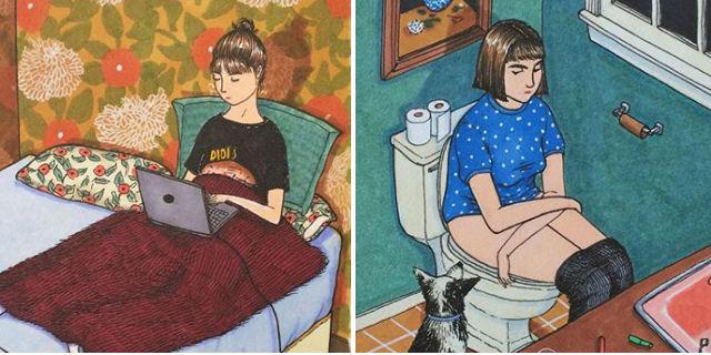 Cosa Fanno le Donne Quando Nessuno le Guarda? 19 Illustrazioni per Raccontarvelo