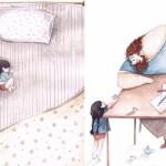 10 Toccanti Illustrazioni Raccontano il Legame che Unisce Padre e Figlia