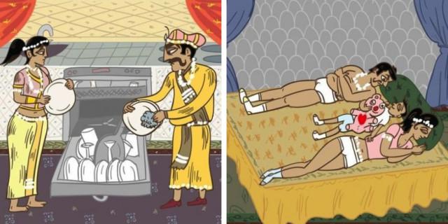 Kamasutra da Sposati: Il Lato Divertente della Vita Matrimoniale in 10 Illustrazioni