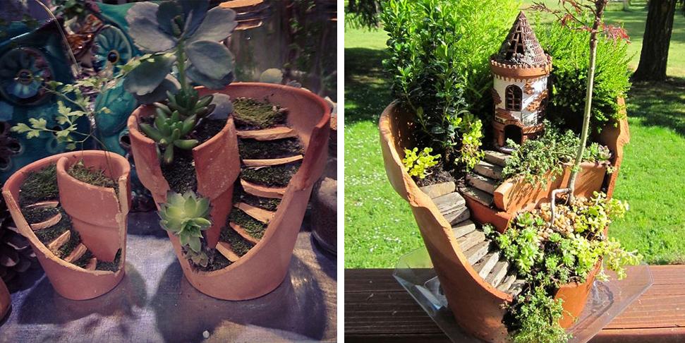Vasi rotti ecco 22 idee originali per riciclarli roba da donne - Sughero pianta da giardino ...