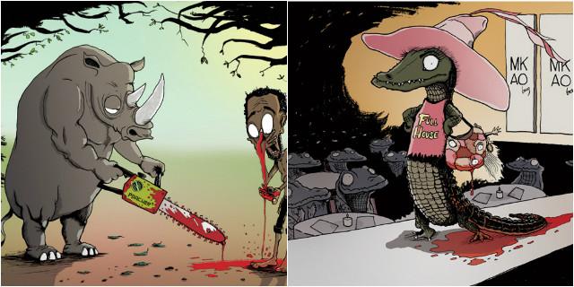 15 Scioccanti Illustrazioni che Rivelano la Nostra Crudeltà nei Confronti degli Animali
