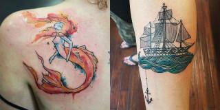 Ocean-Inspired Tattoo