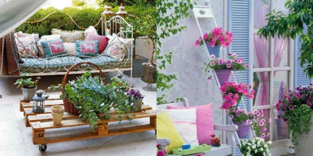 Balconi a Primavera: 25 Idee Low Cost Per Arredare Il Balcone Con Il Riciclo Creativo