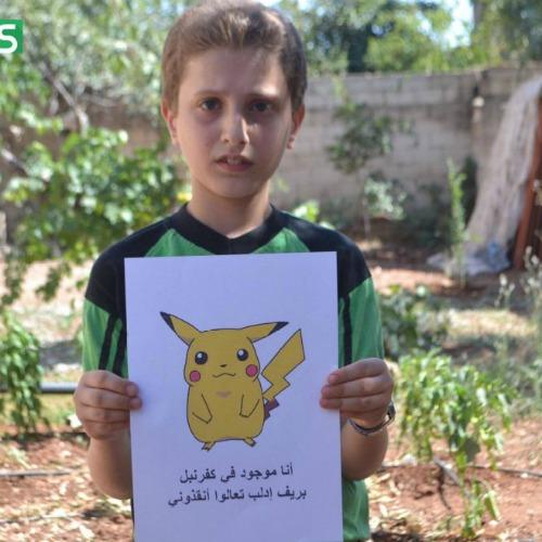 """Pokemon Go: """"Trovateci e salvateci!"""". Il disperato appello dei bambini siriani"""