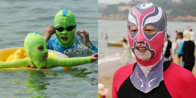 """Facekini: la nuova """"assurda"""" (e pericolosa?) tendenza sulle spiagge. Ecco perché indossano queste maschere"""