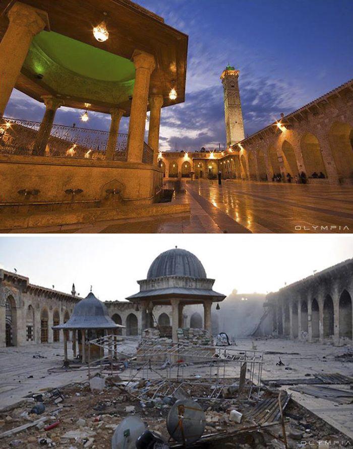 10 immagini che mostrano Aleppo (Siria) prima e dopo le bombe