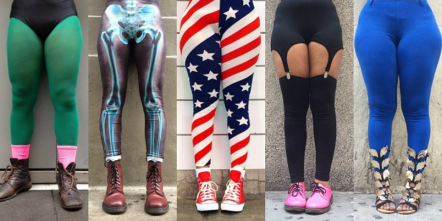 Gli strani leggings e la colorata vita (e in giù) di New York