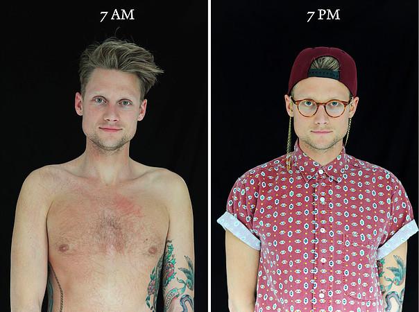 7.00 A.M./P.M.: Come l'aspetto di una persona può cambiare in un solo giorno!