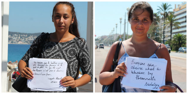"""""""Cosa significa per voi il divieto di portare il burkini"""": rispondono le donne a Nizza"""