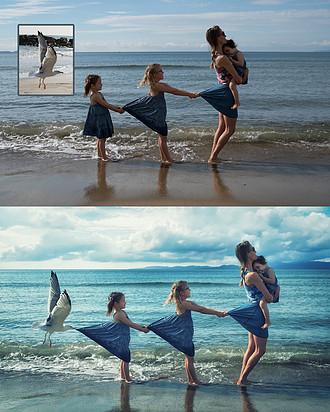 Ecco come questo papà realizza queste pazze foto con le sue figlie