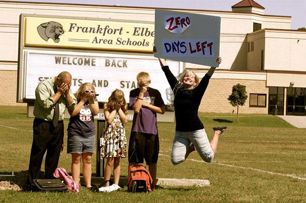 Il primo giorno di scuola secondo i genitori in 15 scatti esilaranti