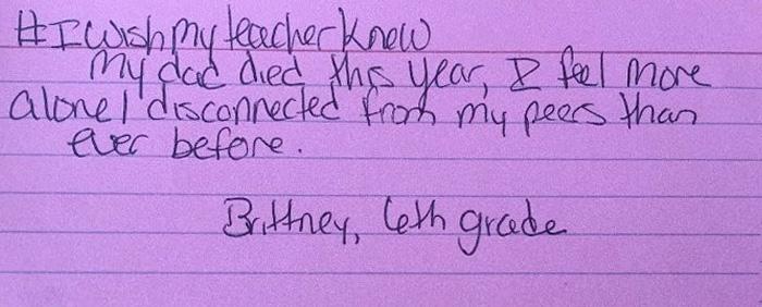 """""""Vorrei che la mia insegnante sapesse..."""": le risposte dei bambini spezzano il cuore alla maestra"""
