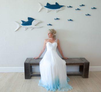 Bianco... con finale colorato! Ecco la nuova tendenza degli abiti da sposa