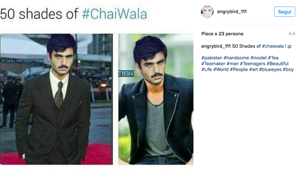Da ragazzo del tè a modello per caso grazie a una foto su Instagram. Ecco chi è #ChaiWala