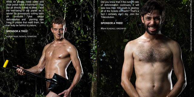 25 uomini in posa nudi (e pelosi)... per una buona causa!