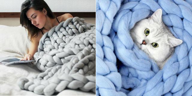 Tutorial come fare questa coperta gigante in 4 ore roba for Libri finti ikea