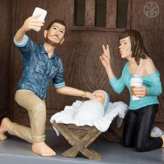 Come sarebbe il presepio se Gesù fosse nato nel 2016.