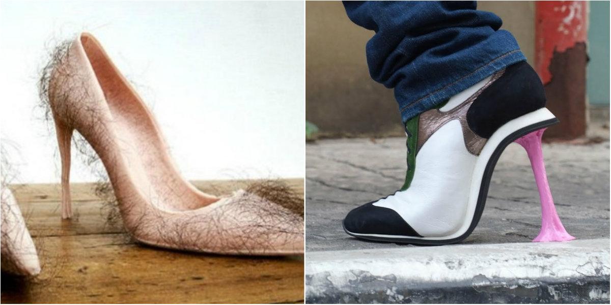le 40 scarpe pi strane e brutte del mondo roba da donne. Black Bedroom Furniture Sets. Home Design Ideas