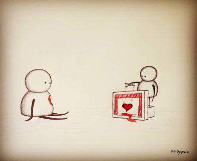 L'amore malato, terribile, egoista o senza cuore in 26 disegni cruenti
