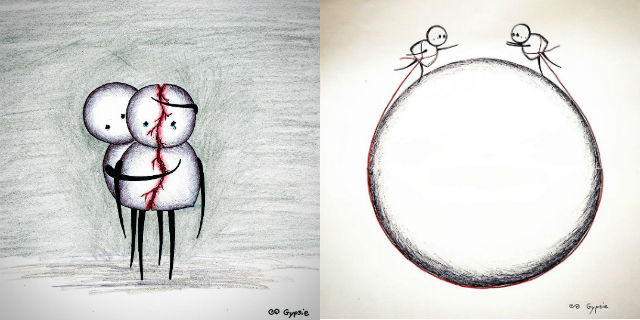 questi 26 disegni mostrano la parte pi crudele dell 39 amore