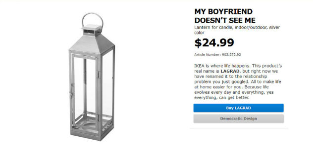 """Ecco come Ikea ha """"cambiato"""" nome ai prodotti per rispondere a ogni problema di relazione"""