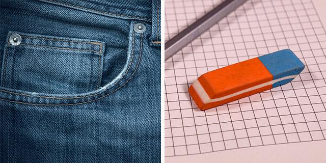 Dal taschino dei jeans alla parte blu della gomma: a cosa servono davvero?