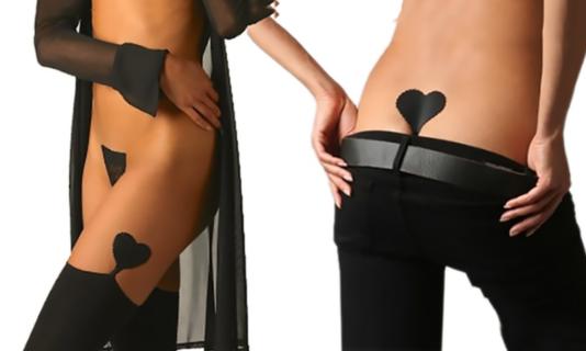 L'intimo invisibile sexy a forma di cuore e le altre varianti