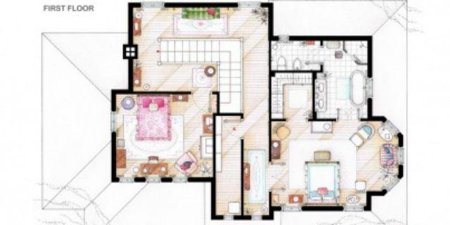 Simple sai riconoscere le case delle serie tv dalla loro for Planimetrie della casa estiva