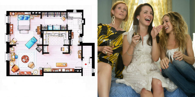Sai riconoscere le case delle serie TV dalla loro planimetria?