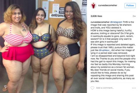 Instagram rimuove la sua foto in bikini. La risposta della blogger plus-size