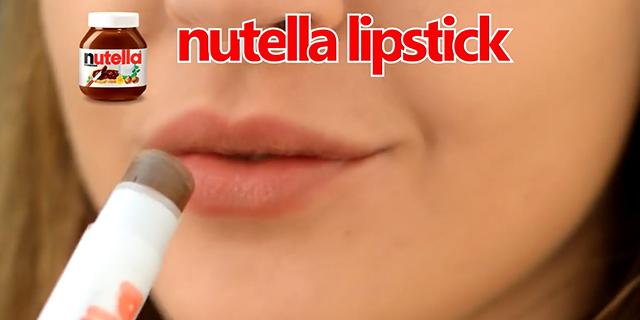 Nutella lipstick