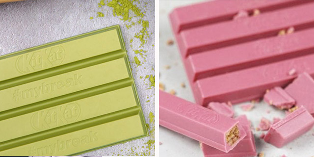 Kit Kat verde o rosa: che sapore ha il cioccolato colorato