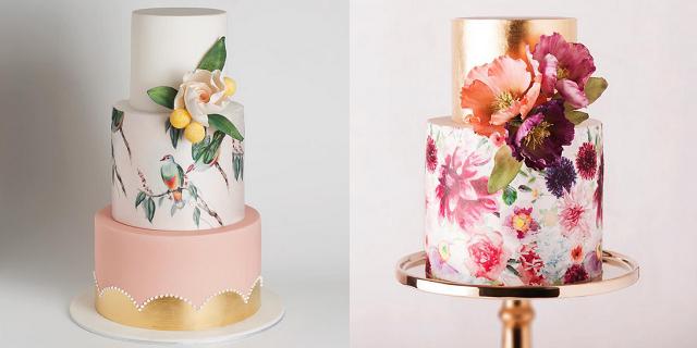 Matrimonio in vista? Fatevi ispirare dalle più belle torte di nozze acquarello