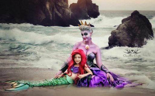 Mamma e figlia interpretano i personaggi di fiabe e cartoni: il risultato è meglio della fantasia