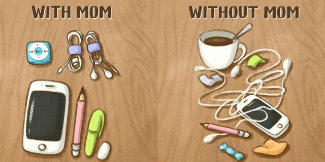 """8 immagini che dimostrano che """"con la mamma"""" è meglio"""