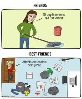 La differenza tra amico e migliore amico: impossibile confonderli