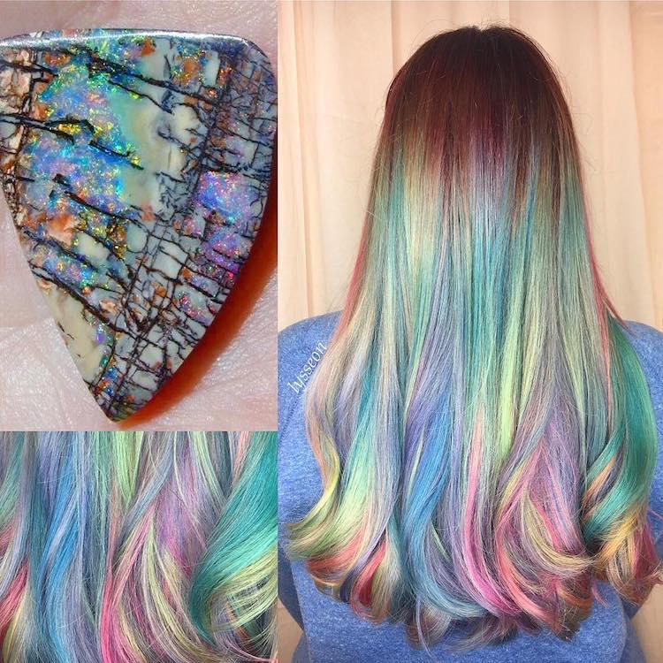 Geode hair: capelli arcobaleno come le pietre semipreziose