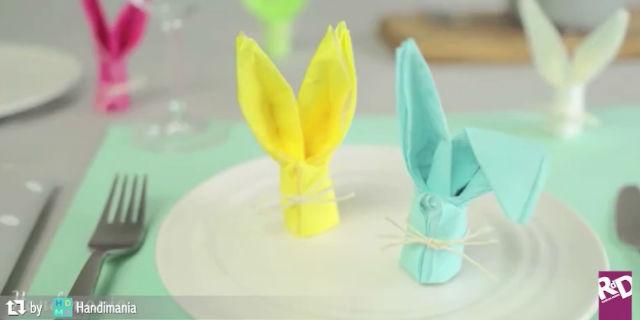 Come realizzare dei teneri coniglietti di carta per il pranzo di Pasqua