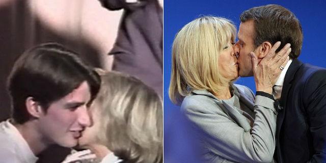 """Macron e Brigitte: lei aveva 41 anni, lui 17 quando le disse: """"Ti sposerò"""". E lo ha fatto"""