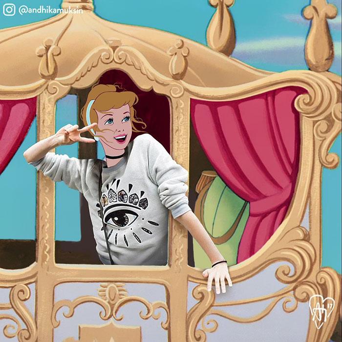Se le principesse e i principi Disney fossero delle star di oggi