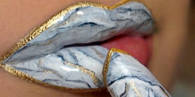 Marble Lips: le labbra marmo sono il nuovo trend