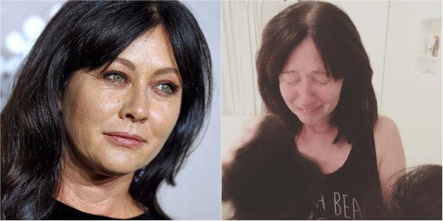 Shannen Doherty, il messaggio della drammatica foto dei capelli persi per la chemio