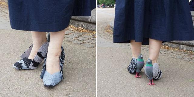 Tutti pazzi per le scarpe piccione con il tacco