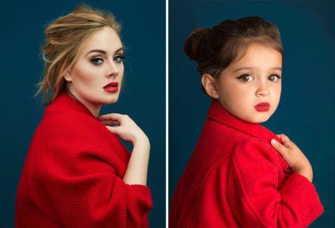 Questa bimba di 3 anni ricrea le foto di donne forti famose